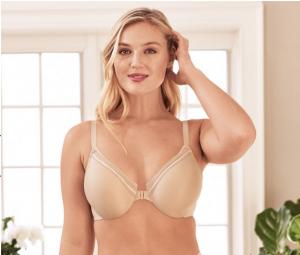 underwire front closure bra