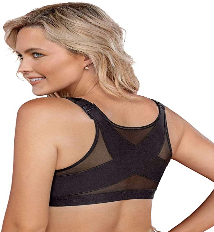 front closure back support bra