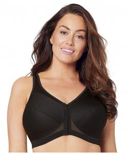 plus size front-close-wire-free-bra