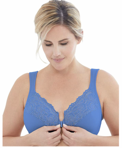 plus size front closure underwire bra