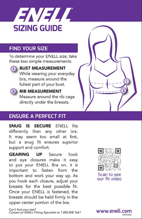 enell sports bra fitting guide