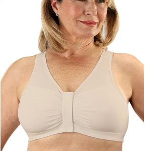Velcro post mastectomy bra